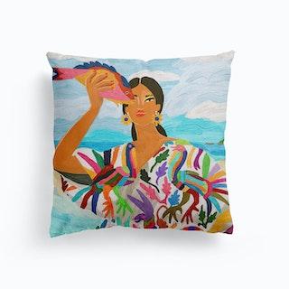Mexican Colors Canvas Cushion