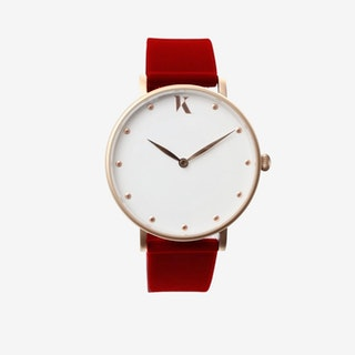 Ruby Red+Gold - 38mm Watch