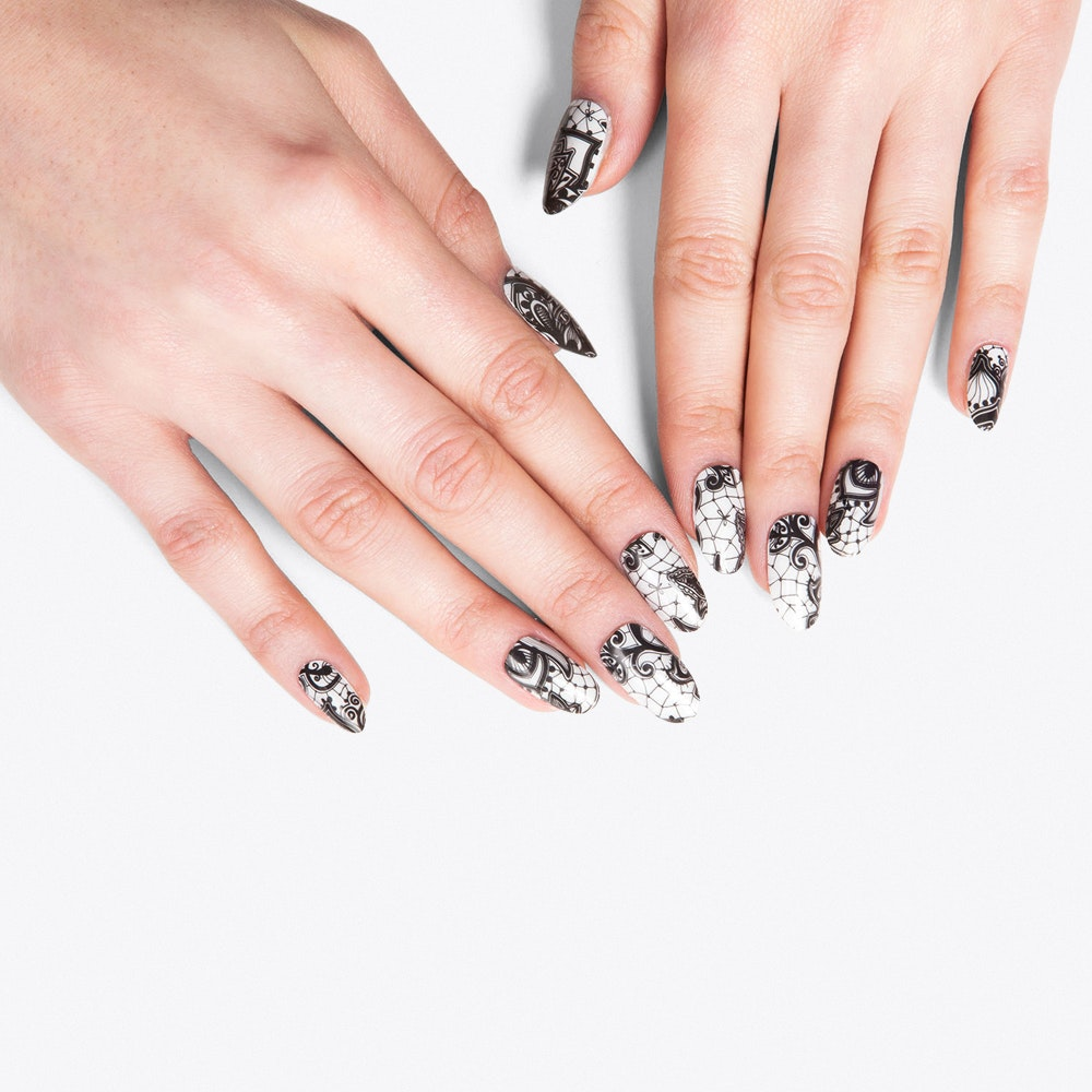 Henna Overlay Nail Wraps by Thumbs Up Nails. Discover Beauty on Fy