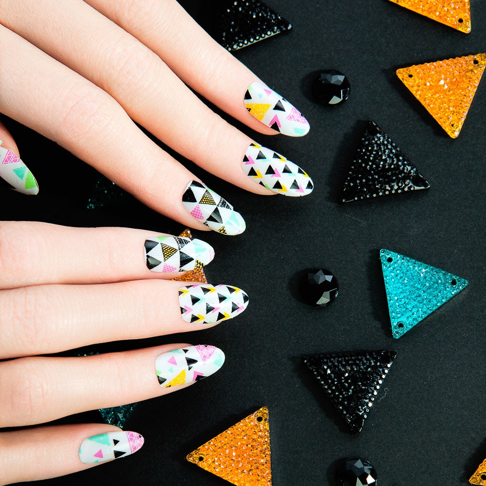 Kaleido Overlay Nail Wraps By Thumbs Up Nails - Fy