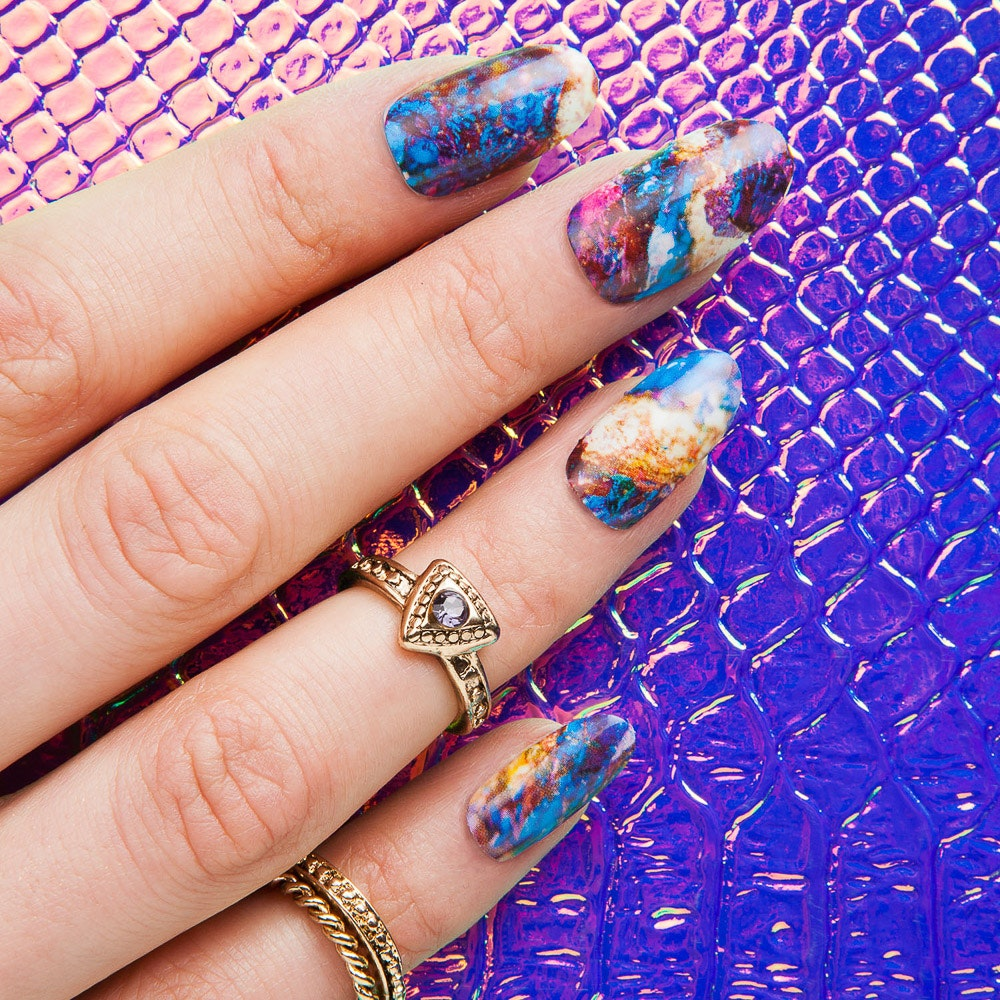 Awe High Shine Nail Wraps By Thumbs Up Nails - Fy
