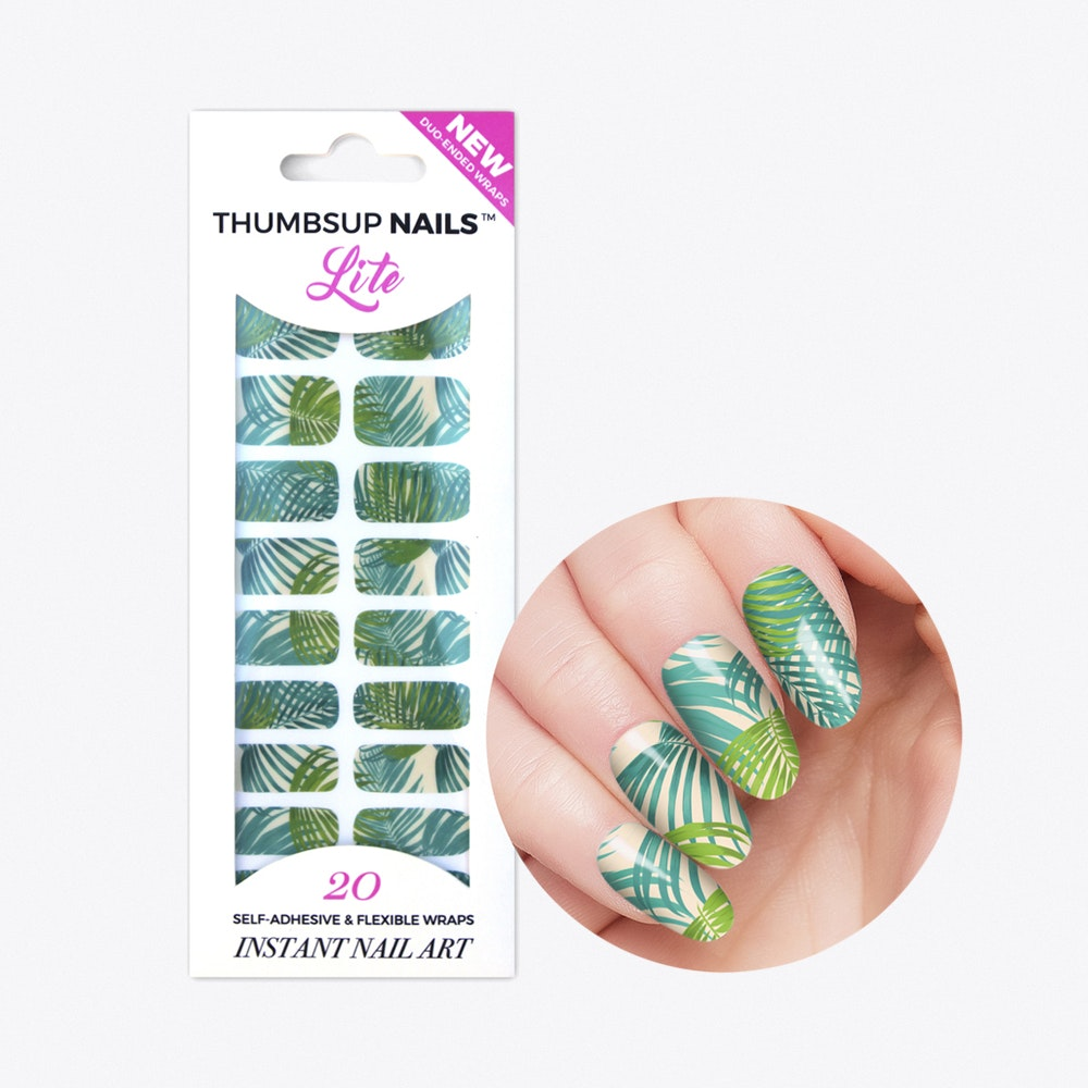 Palm Tree High Shine Nail Wraps By Thumbs Up Nails - Fy