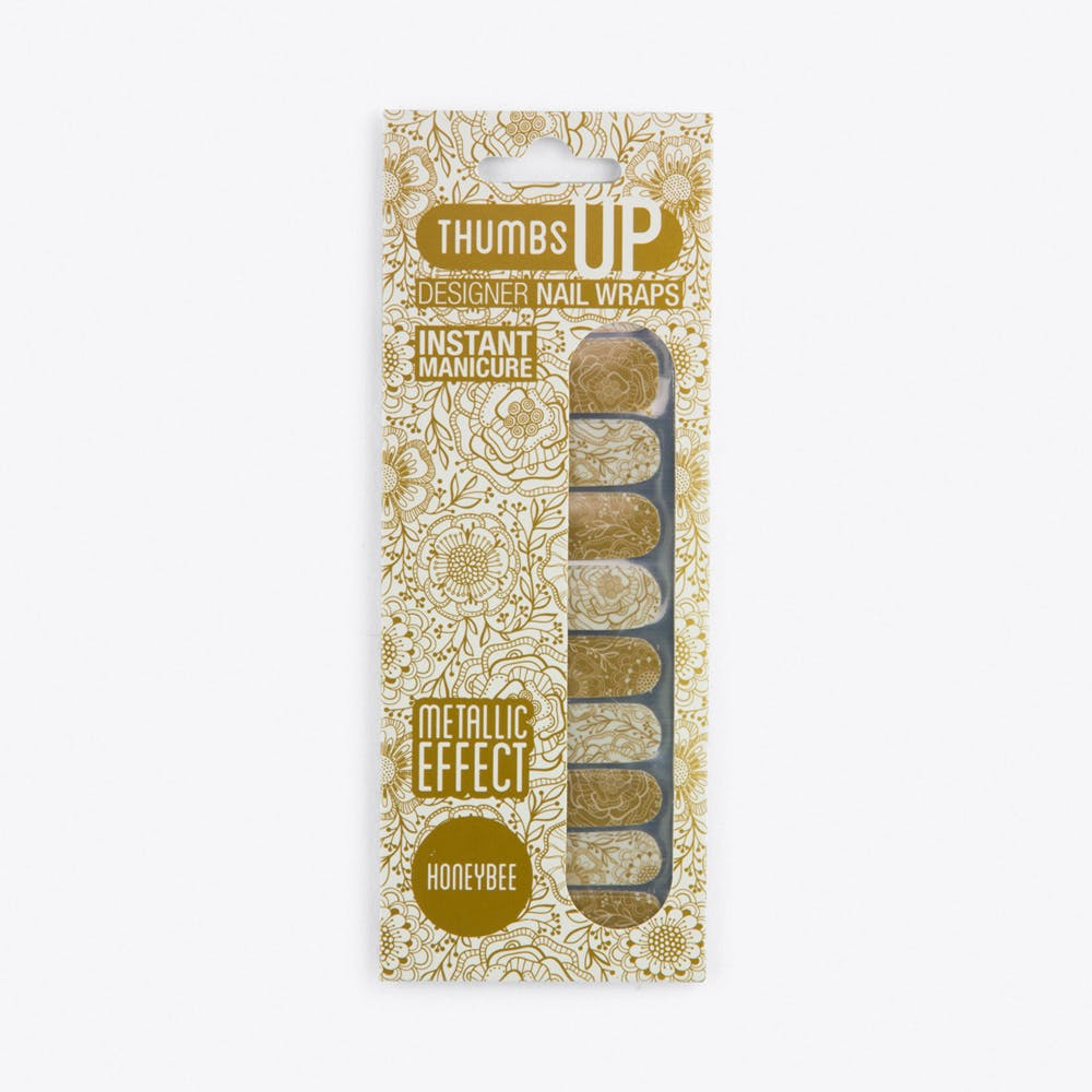 Honeybee Metallic Effect Nail Wraps