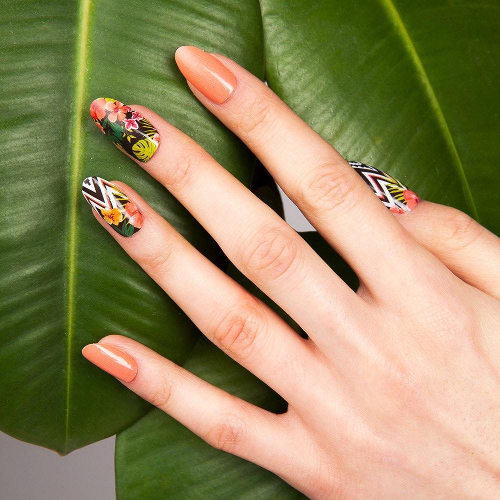 Aloha High Shine Nail Wraps By Thumbs Up Nails - Fy