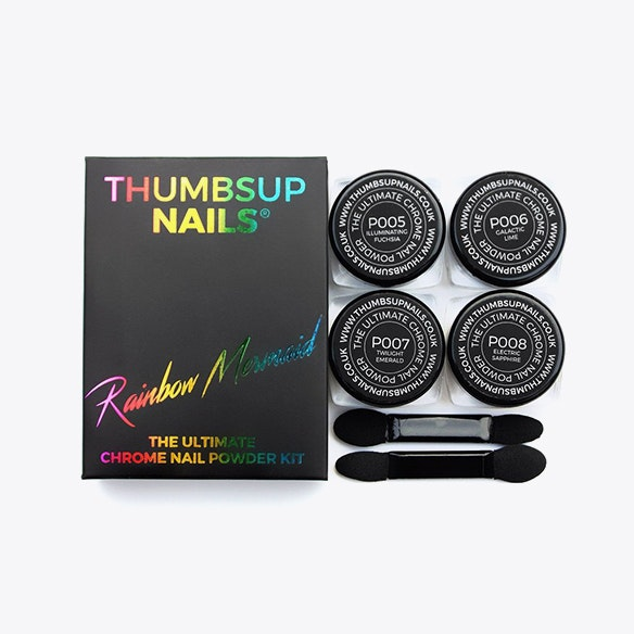 Chrome Nail Powder Kit in Rainbow Mermaid