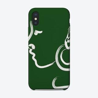 Luna In Green Phone Case