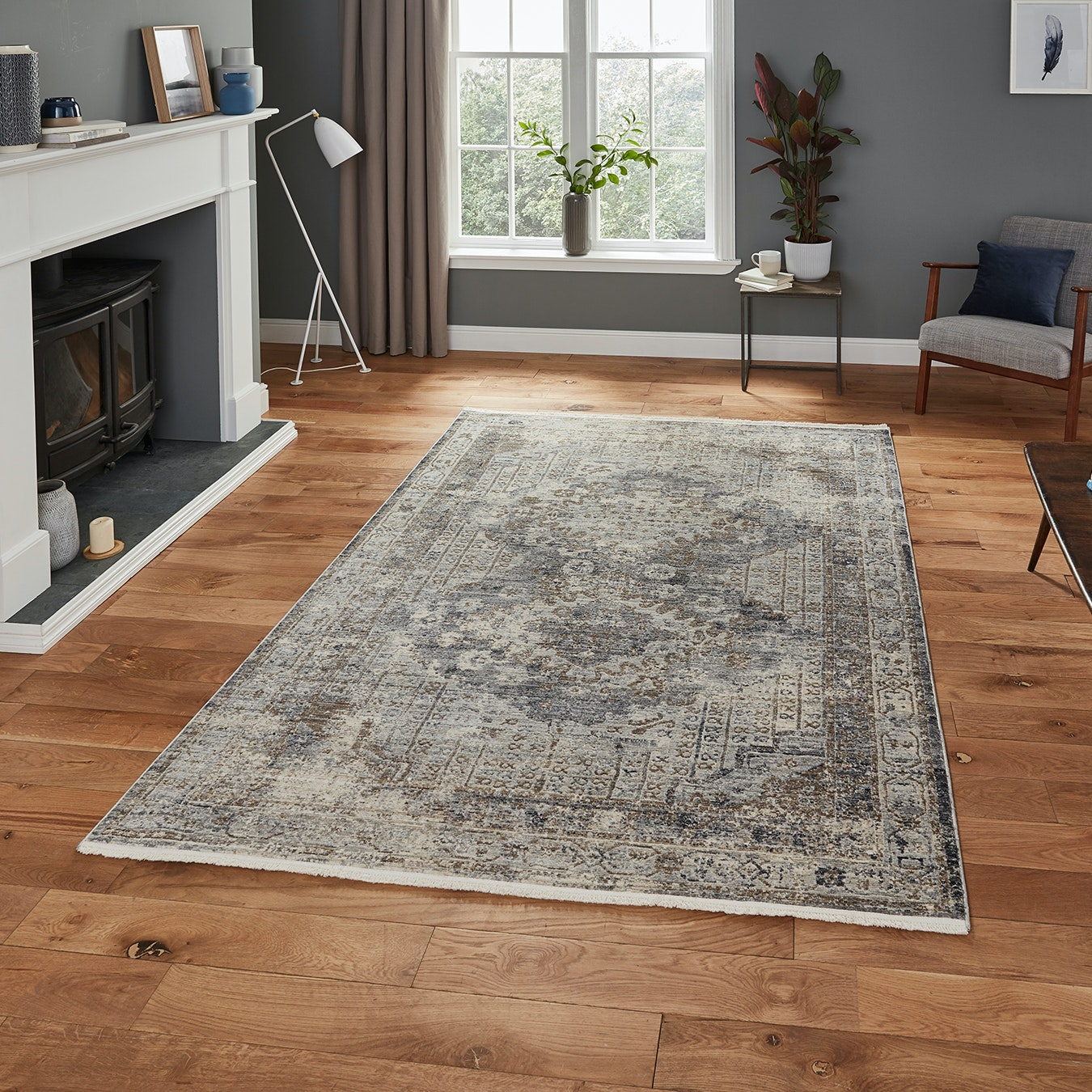Athena Bett Rug Grey By Think Rugs Fy