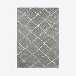 Royal Nomadic Kolpo Rug, Grey/Cream