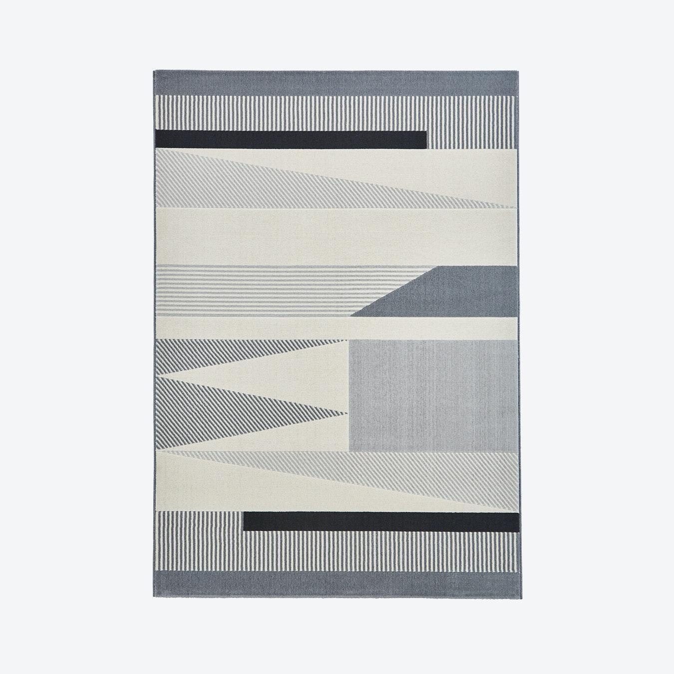 Vancouver Cordelia Rug Grey Black By