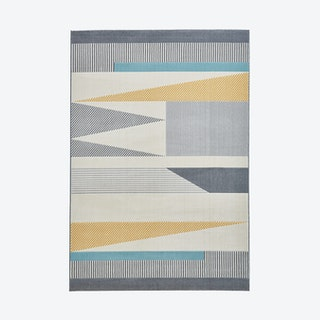 Vancouver Cordelia Rug, Grey/Blue/Yellow