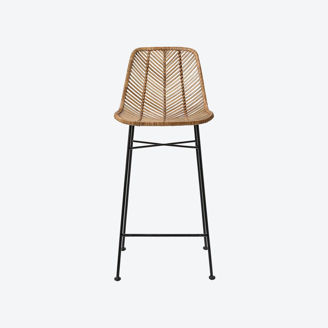 Incredible Bali Bar Stool Natural Rattan Ncnpc Chair Design For Home Ncnpcorg