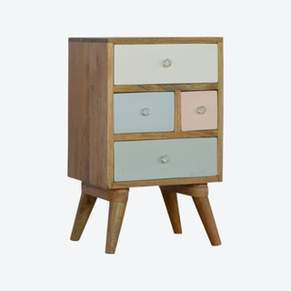 Multi Drawer Painted Bedside