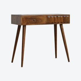 Chestnut Prism Console Table