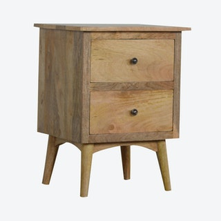 Nordic Style Bedside with 2 Drawers