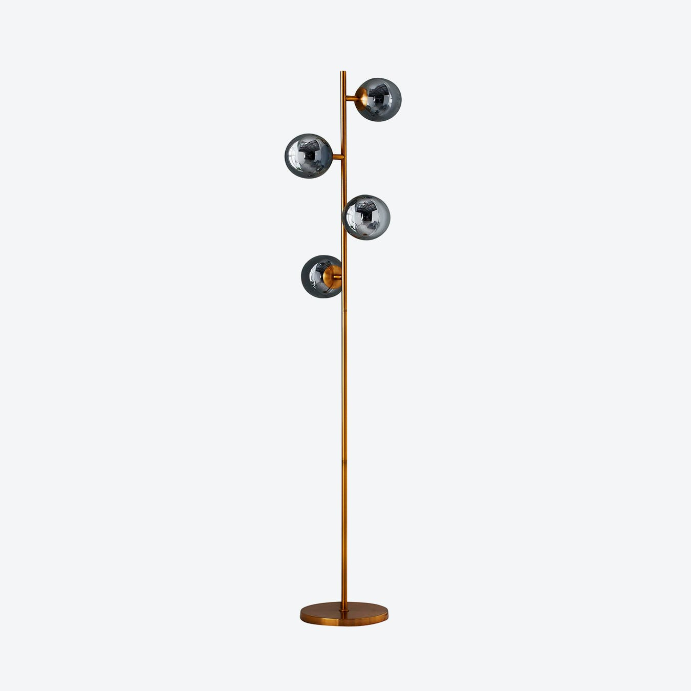 Four Sphere Gold Tall Floor Lamp By Native Lifestyle Fy