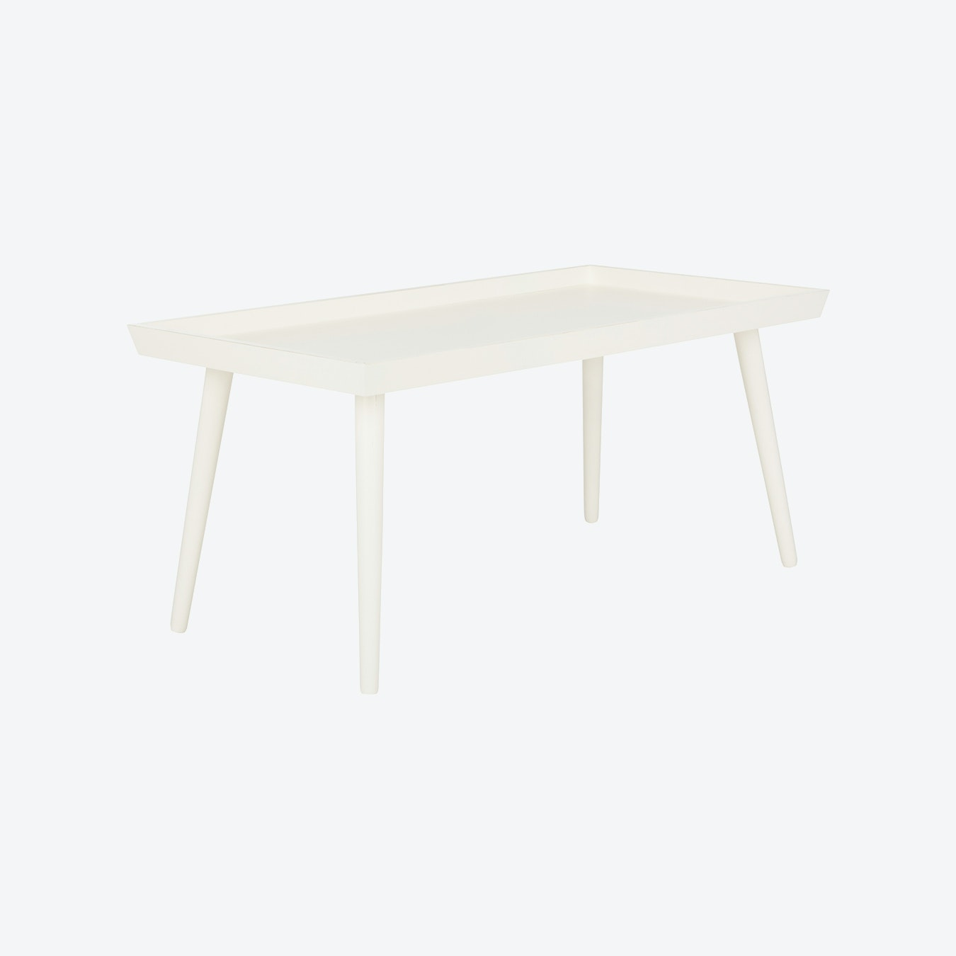 Wooden Tray Coffee Table In Distressed White By Safavieh Fy