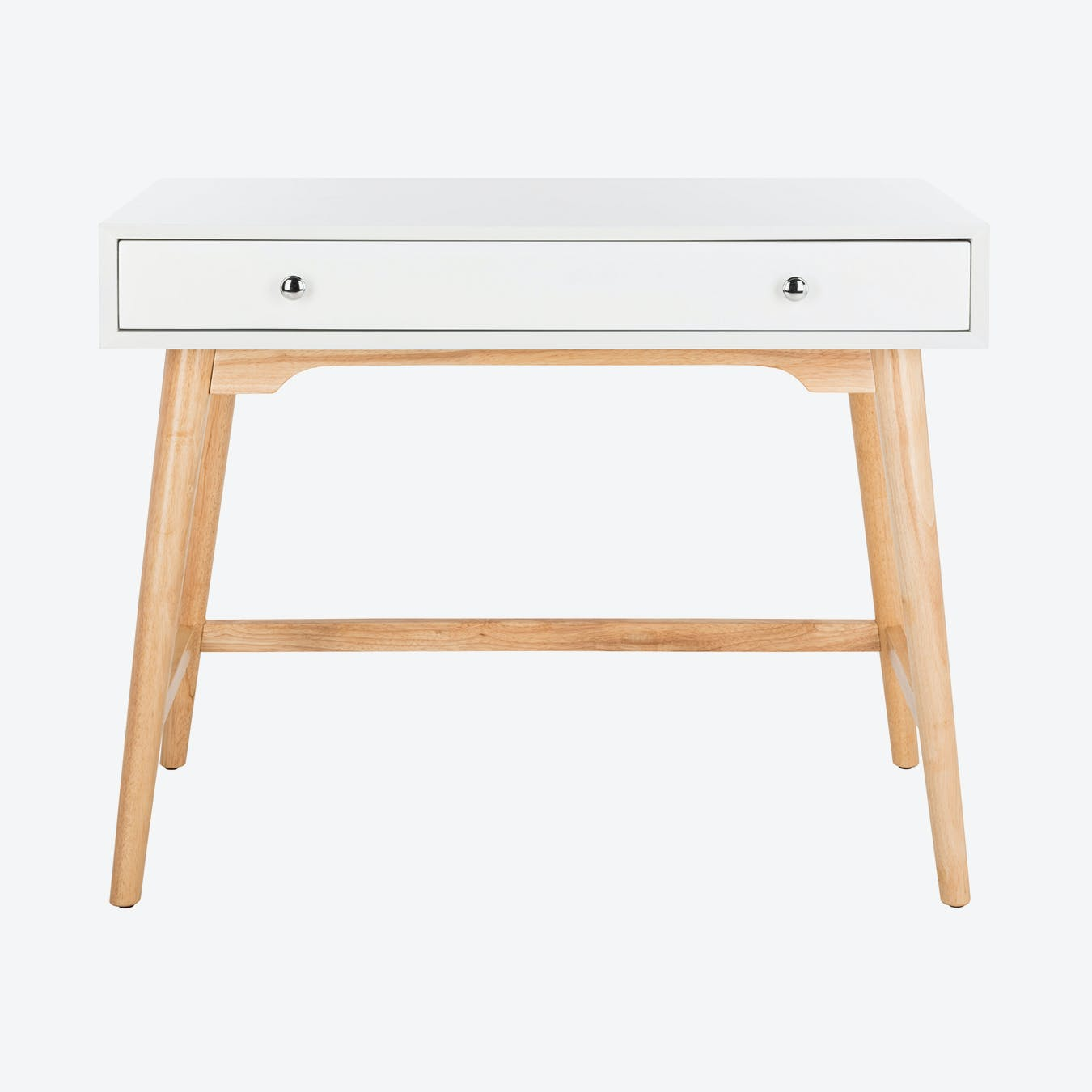 Image of: Wooden Modern Mid Century Desk In White Natural By Safavieh Fy