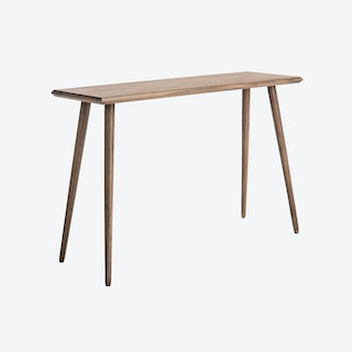 Wooden Mid-Century Console Table in Desert Brown