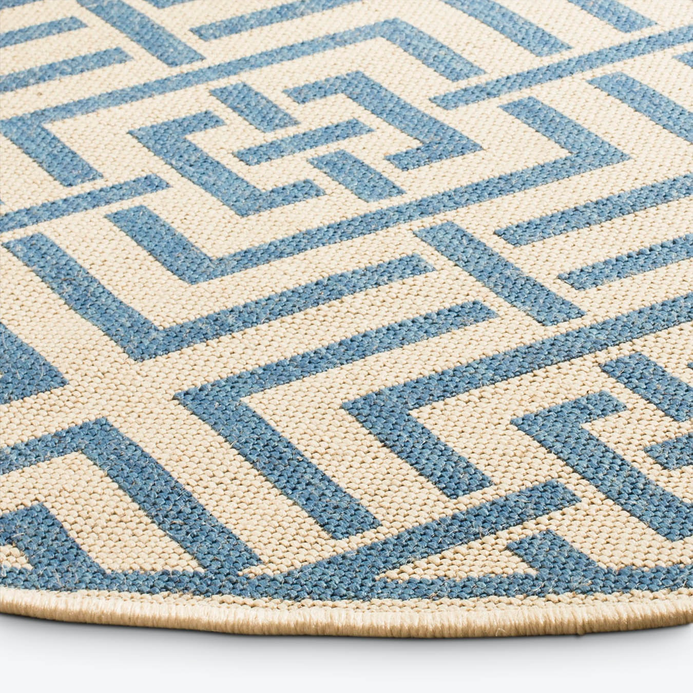 Beach House Round Area Rug Cream