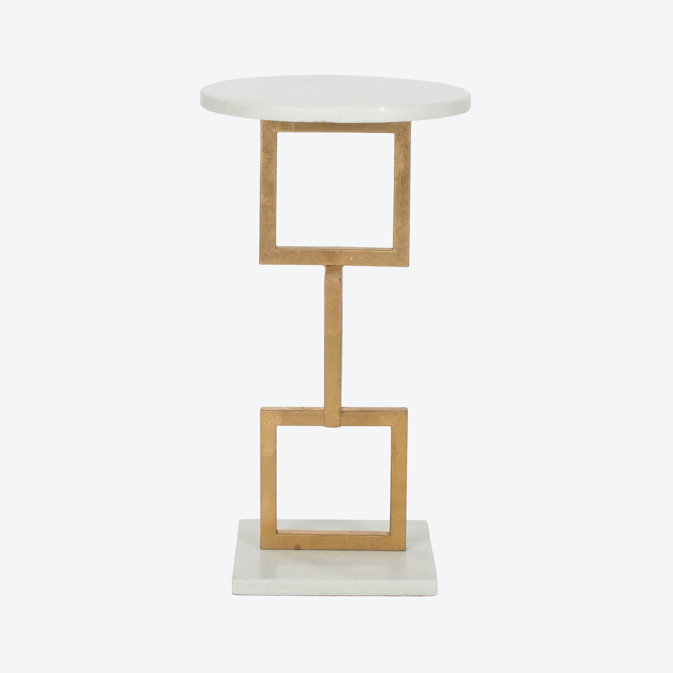 - Iron Accent Table In Gold With White Marble Top By Safavieh - Fy