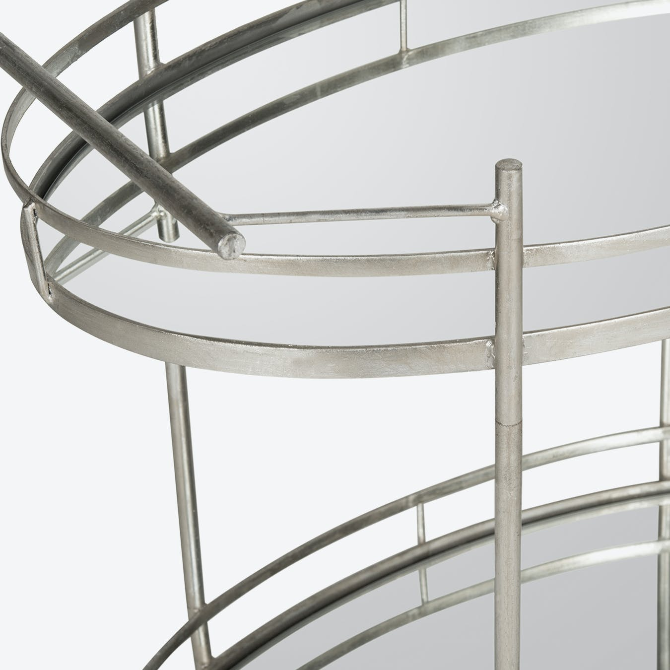 Glam Bar Cart In Silver With Mirror Glass Top 2 By Safavieh Fy
