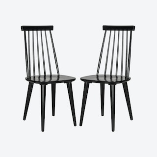 Modern Accent Chair ( Set of 2 ) in Black