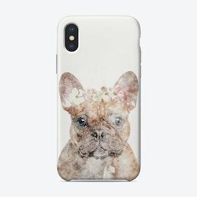 Floral Bulldog Phone Case