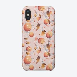 Peachy Bolts Salmon Phone Case