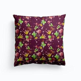 Raving Desert Burgundy Cushion