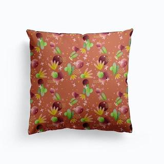 Raving Desert Smoky Orange Cushion