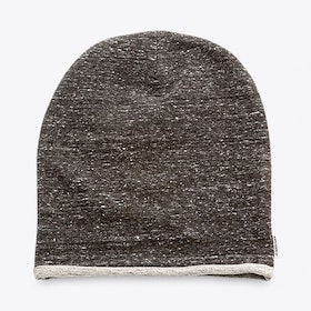 Knit Beanie in in Grey Anthracite