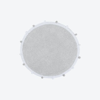 Bubbly - Light Grey - Washable Rug