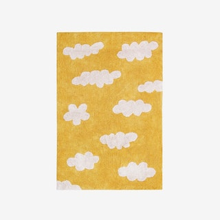 Clouds Mustard - Washable Rug