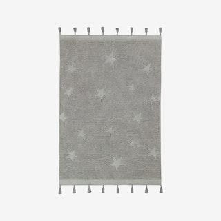 Hippy Stars Grey - Washable Rug
