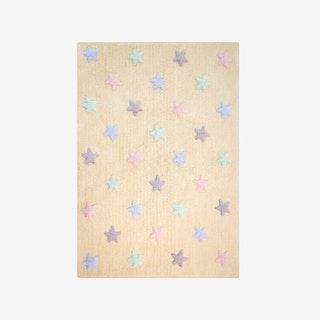 Tricolor Stars - Vanilla - Washable Rug