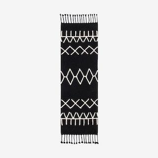 Bereber Black Runner - Washable Rug