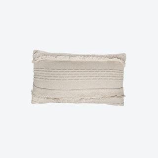 Knitted Cushion - Air - Dune White