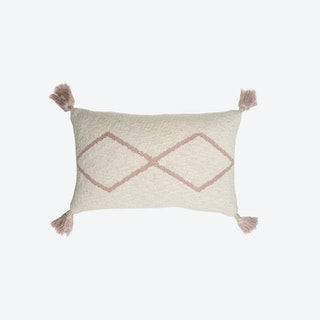 Knitted Cushion Little Oasis Nat - Pale Pink