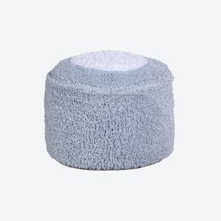 Pouffe - Marshmallow Round - Light Blue