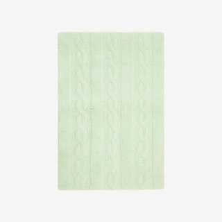 Braids Soft Mint - Washable Rug