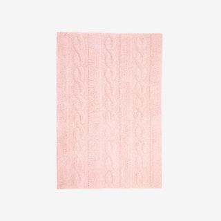 Braids Soft Pink - Washable Rug