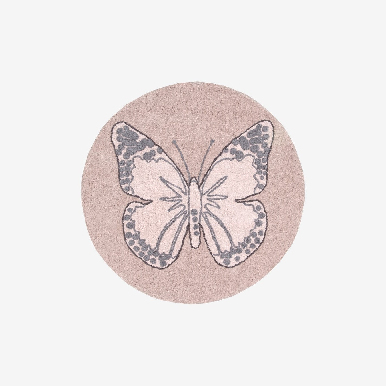 Butterfly Vintage Nude - Washable Rug by Lorena Canals US - Fy