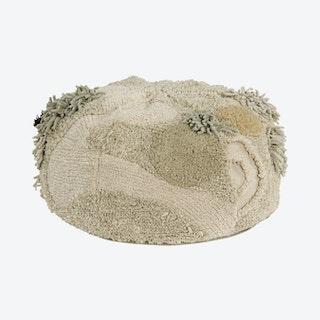 Mossy Rock Pouffe - Green