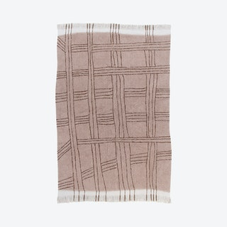 Shuka Rug - Dusty Pink / Ivory