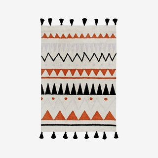 Azteca Natural-Terracota - Washable Rug
