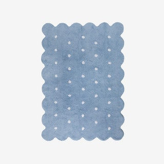 Biscuit Blue - Washable Rug