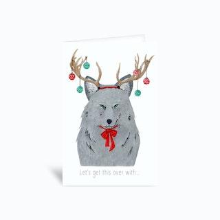 I Hate Xmas Greetings Card