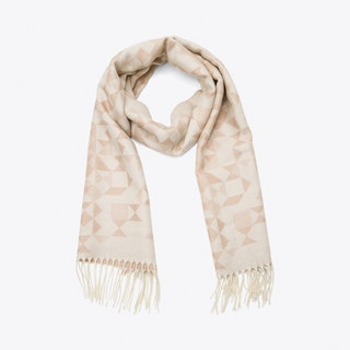 Kelle Scarf in Grey & Cream