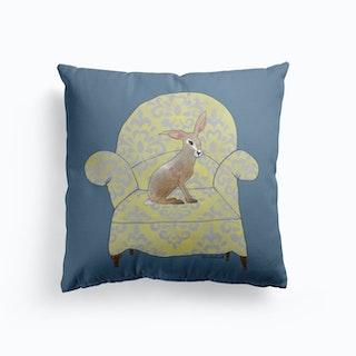 Hare On A Chair Cushion
