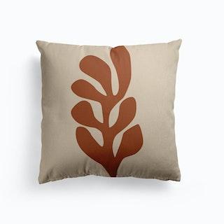 Matisse Inspired Leaf Canvas Cushion